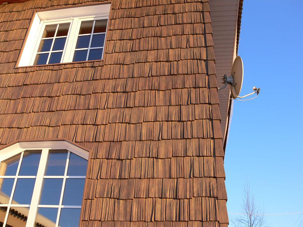фасад дома дранкой фото одном случае